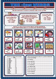 English Worksheets: THE -ING VERBS