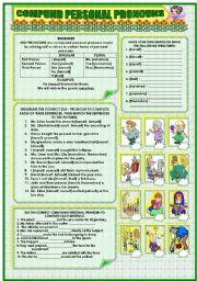English Worksheet: COMPOUND PERSONAL PRONOUNS