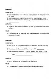 English Worksheets: Rally to make students activate and learn