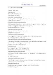 English Worksheets: Everyday English