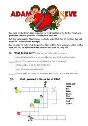 English Worksheets: Adam_Eve