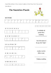 English worksheets the sneetches puzzle english worksheet the sneetches puzzle sciox Choice Image