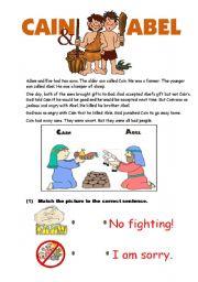 English worksheet: Cain and Abel
