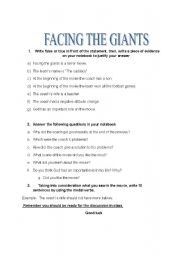 facing the giants lesson