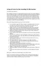 English Worksheet: Ideas for studentds motivation