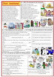 English Worksheets: Third conditional