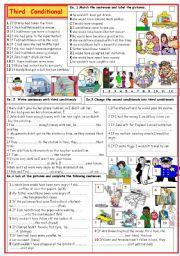 English Worksheet: Third conditional