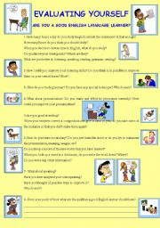 English Worksheets: STUDENTS� SELF-EVALUATION SHEET