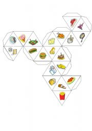 English Worksheets: food dice
