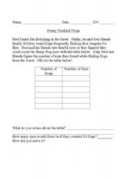 English Worksheets: Funny Freckled Frogs