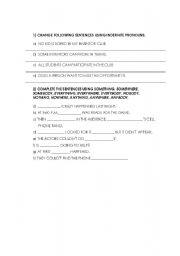 english worksheets indefinite pronoun. Black Bedroom Furniture Sets. Home Design Ideas