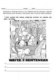 English worksheet: vocabulary word search
