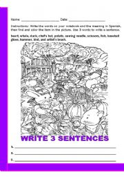 word search for vocabulary