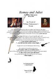 English Worksheet: Romeo and Juliet UNIT