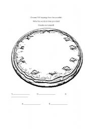 English Worksheet: Pizza Toppings