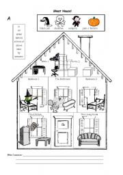 English Worksheets: Ghost House!