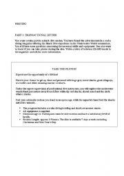 English Worksheets: WRITING FCE