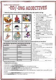 English Worksheet: -ed/-ing adjectives