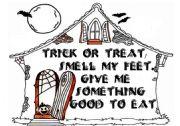 English Worksheet: trick or treat