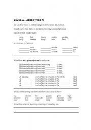 English worksheet: Adjectives 4 Elementary