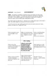 graphic relating to Hatchet Worksheets Printable titled English worksheets: Hatchet - Gary Paulsen