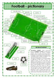English Worksheet: Football - pictionary