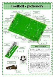 English Worksheet: Football - pictionary