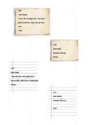 English Worksheets: Dear David- mini saga
