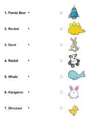 English Worksheets: Animals Matching