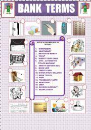 English Worksheet: BANK TERMS