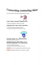 English Worksheets: Connecting Contrasting Ideas