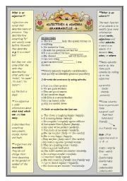 English Worksheet: Grammarville 6 - Adjectives & Adverbs