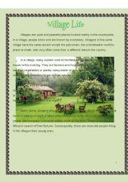 English Worksheets: village life