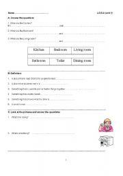 English Worksheets: let�s go 3 unit 1