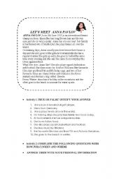 English Worksheets: reading comprehension and practice