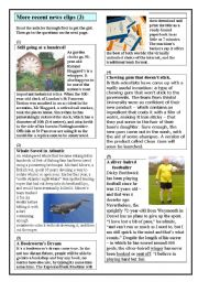 English Worksheets: Some more recent news clips (3)