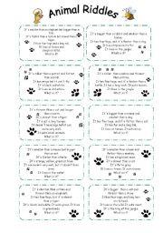 animal riddles esl worksheet by sophia13. Black Bedroom Furniture Sets. Home Design Ideas