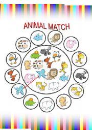 English Worksheets: Animal match fun