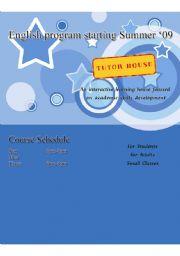 English Worksheets: Stars and Circles English Coversheet