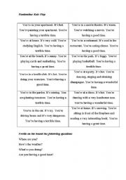 English Worksheet: Role-play miming
