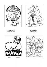 Seasons - colouring sheet