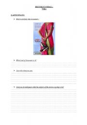 English Worksheets: a worksheet on a movie scene from Bent it like Beckham