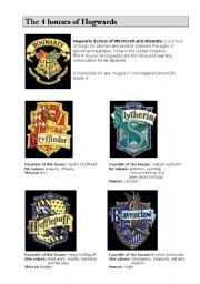 English Worksheets: Harry Potter_The 4 houses of Hogwards