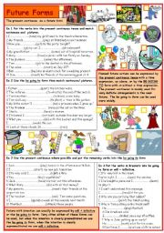 English Worksheets: Future forms