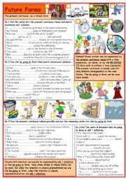 English Worksheet: Future forms