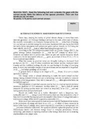English Worksheet: Alternative Energy