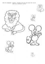english worksheets lion and the mouse math worksheet sizes. Black Bedroom Furniture Sets. Home Design Ideas