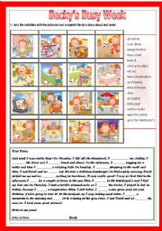 English Worksheets: Becky�s busy week