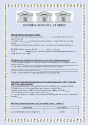 English Worksheet: BUSINESS ENGLISH BANKING