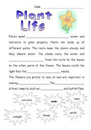 Worksheets Plants Worksheets english teaching worksheets plants plant life